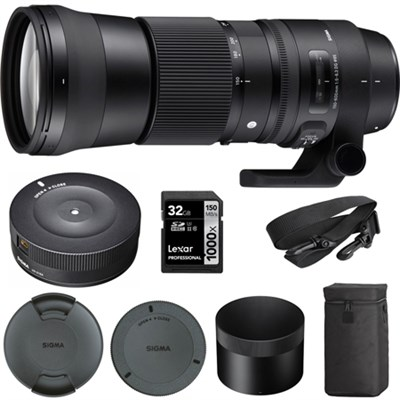 150-600mm F5-6.3 DG OS HSM Zoom Lens Contemporary for Canon w/USB Dock Kit