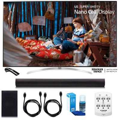 SUPER UHD 65` 4K HDR Smart LED TV w/LGSH7B 4.1ch Wi-Fi Sound Bar Bundle