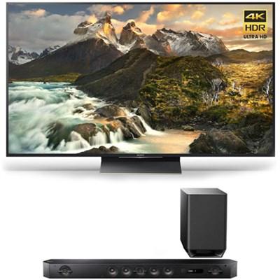 XBR-75Z9D 75-Inch Class 4K Ultra HD TV w/ HT-ST9 7.1 Channel Sound Bar Bundle