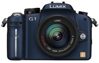 G1-12.1MP SLR Digital C. (Blue) w/ Lumix G Vario 14-45 mm f/3.5-5.6 **OPEN BOX**