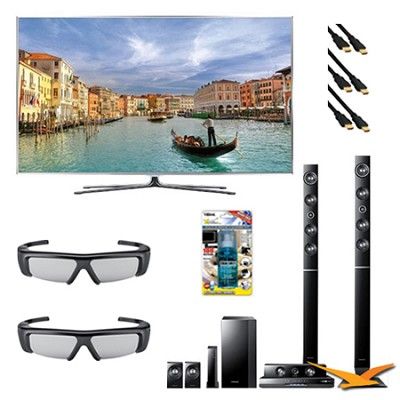 UN55D8000 55 inch 240hz 3D LED + HTD6730W Home Theater Bundle