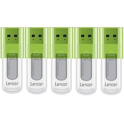32 GB JumpDrive High Speed USB Flash Drive (Green) 5-Pack (160GB Total)