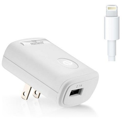 N210-12206 2.1A Apple Certified iPhone 5 Lightning 8-Pin Travel Charger - White