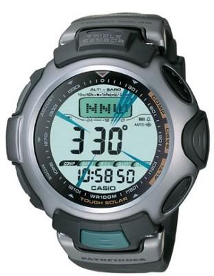 Men's Pathfinder Tough Solar Triple Sensor Watch - Black Resin