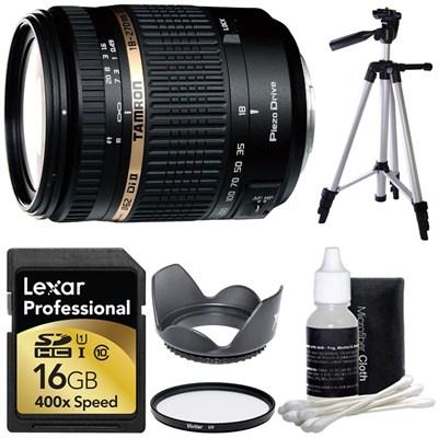 18-270mm f/3.5-6.3 Di II VC PZD Aspherical Sony Lens 16 GB Bundle