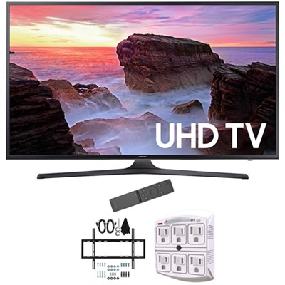 55` 4K Ultra HD Smart LED TV 2017 Model with Wall Mount Bundle