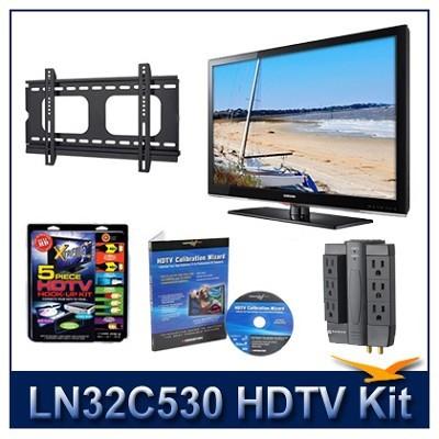 LN32C530 - HDTV + Hook-up Kit + Power Protection + Calibration + Flat Mount
