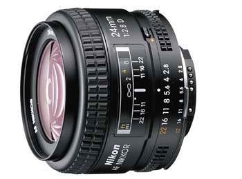 24mm F/2.8D AF Lens, With Nikon 5-Year USA Warranty