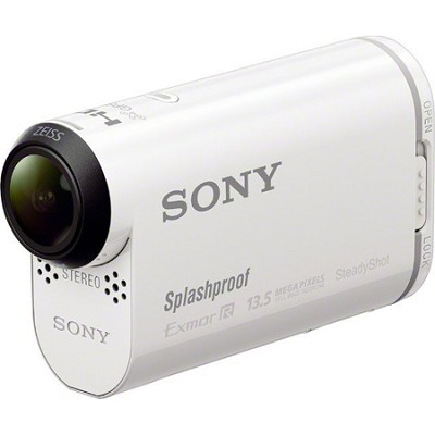 HDR-AS100V/W POV Action Camera with 3-Inch LCD (White) - OPEN BOX
