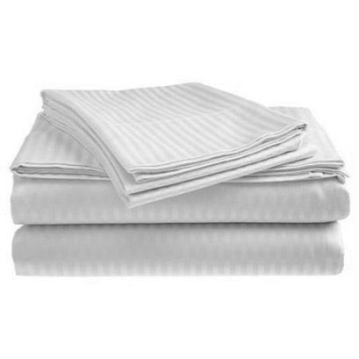 300 TC Sateen White Sheet Set - Queen Size