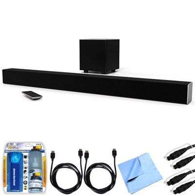 SB3821-D6 SmartCast 38` 2.1 Sound Bar System w/ Essential Accessory Bundle