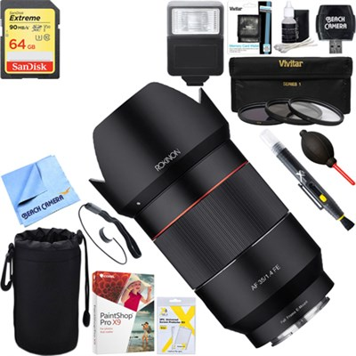 AF 35mm f/1.4 Auto Focus Full Frame Wide Angle Lens + 64GB Ultimate Kit