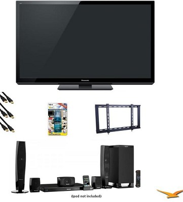 TC-P50GT30 50` VIERA 3D FULL HD (1080p) Plasma TV BTT370 Home Theater Bundle