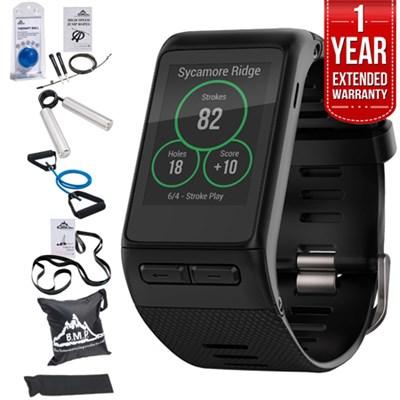 Vivoactive HR GPS Smartwatch, Regular Fit Black w/ Fitness Warranty Bundle