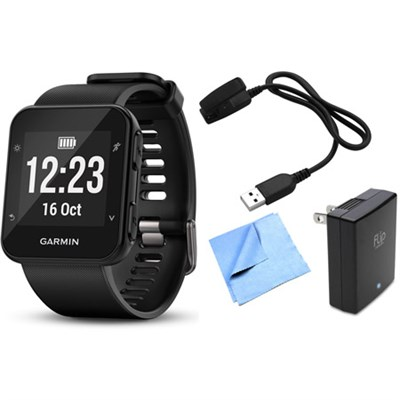 Forerunner 35 GPS Running Watch & Activity Tracker w/ Accessories Bundle - Black