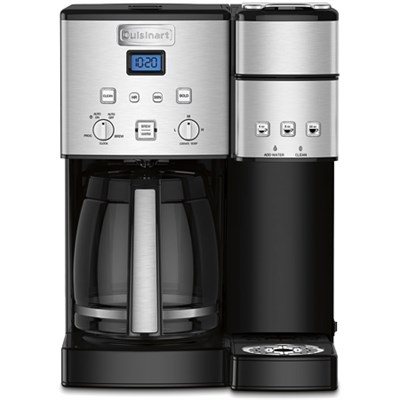 12 Cup Coffeemaker & Single Serve Brewer w 3 Year Warranty-Stainless Steel SS-15