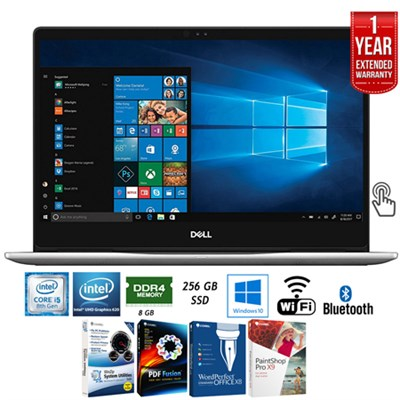Inspiron 13.3` Intel i5-8250U 8/256GB SSD Touch Laptop + Extended Warranty Pack