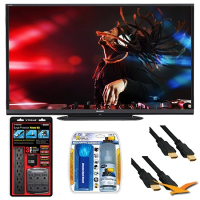 LC-70LE650U Aquos 70` 1080p Wifi 120Hz LED TV Plus Surge Protector Bundle
