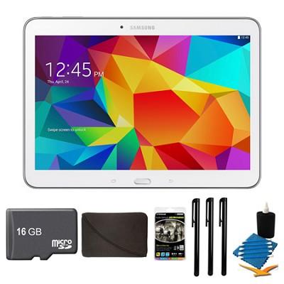 Galaxy Tab 4 White 16GB 10.1` Tablet, 16GB Card, and Case Bundle