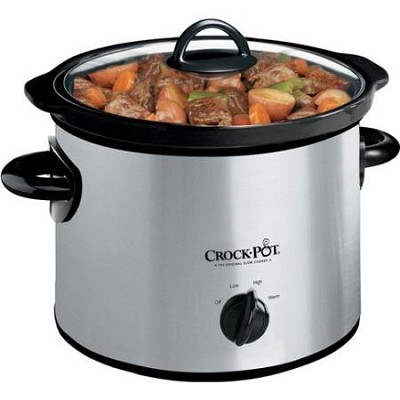 3-Quart Round Manual Slow Cooker, Stainless Steel SCR300SS