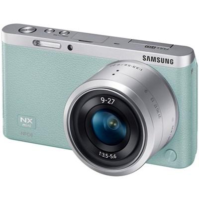 NX Mini Mirrorless Digital Camera with 9-27mm Lens and Flash - Mint - OPEN BOX