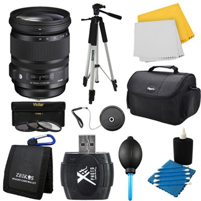 24-105mm F/4 DG OS HSM Lens for Nikon Bundle