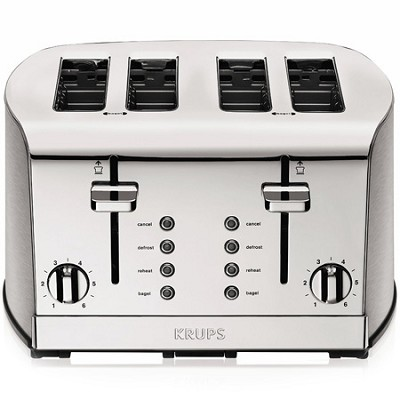 KH734D50 - Breakfast Set 4-Slice Toaster with Brushed and Chrome Stainless Steel