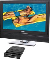 32 Inch HDTV Flat Panel LCD TV w/ Modular DVD Player & USB Card Port