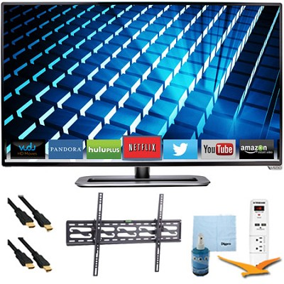 M322i-B1 - 32` Ultra-Slim LED 1080p 120Hz Smart HDTV Tilt Mount & Hook-Up Bundle