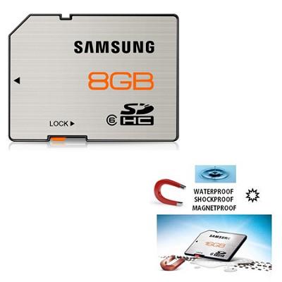 High Speed 8GB Waterproof & Shockproof Class 6 SDHC Memory Card (Brushed Metal)