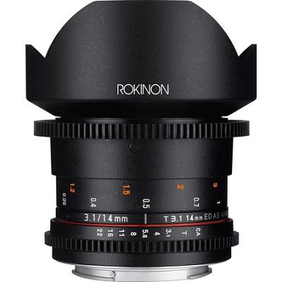 DS 14mm T3.1 Full Frame Ultra Wide Angle Cine Lens for Nikon Mount - OPEN BOX