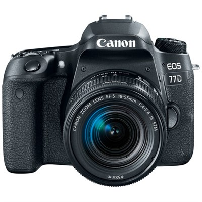 EOS 77D 24.2 MP DSLR Camera Wi-Fi & Bluetooth with EF-S 18-55mm IS STM Lens