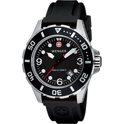 Men's AquaGraph 1000M Watch - Black Dial / Black Bezel / Black Rubber Strap