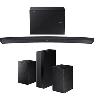 2.1 CH 300W Curved Wireless Audio Soundbar w/ Wireless Rear Speaker Kit
