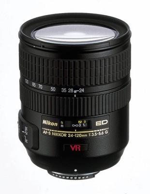 24-120mm F/3.5-5.6G ED-IF AF-S`VR` Zoom-Nikkor Lens Manufacturer Refurbished
