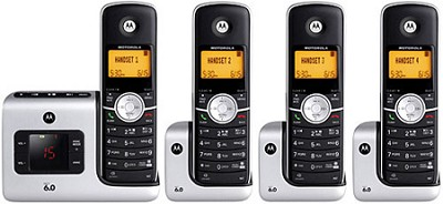 L404 DECT 6.0 Cordless Phone with 4 Handsets