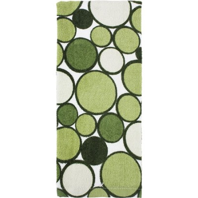 Printed Geometric Kitchen Towel - Sage