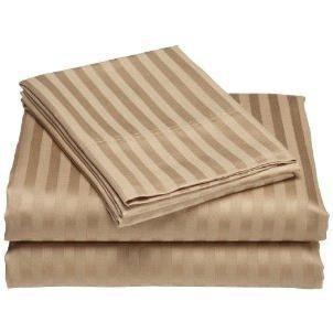 Luxurious 400 Thread Count Woven Cotton Sateen Sheet Set - Mocha (Queen)