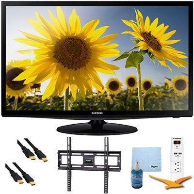 28` LED 720p HDTV Clear Motion Rate 120 Plus Mount & Hook-Up Bundle - UN28H4000