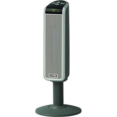 30` Digital Space-Saving Ceramic Pedestal Heater with Digital Remote