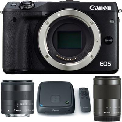EOS M3 Mirrorless Camera w/ EF-M 18-55 and 55-200mm Lens + 1TB CS100 Storage Hub