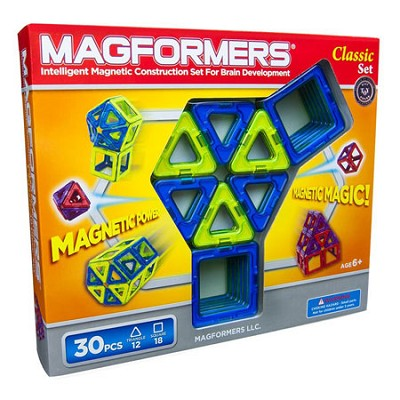 63068 Classic 30 Piece Magnetic Construction Set