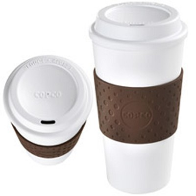 Eco-First Acadia - BPA Free - Reusable To Go Mug, Brown 16oz.