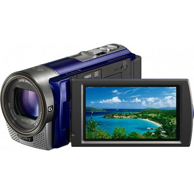 HDR-CX130 Handycam Full HD Blue Camcorder w/ 30x Optical Zoom