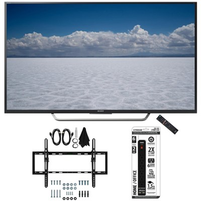 XBR-49X700D - 49` Class 4K Ultra HD TV with Tilt Wall Mount Bundle