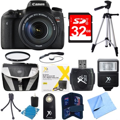 EOS Rebel T6s Digital SLR Camera w/ EF-S 18-135mm IS STM Lens Kit Deluxe Bundle