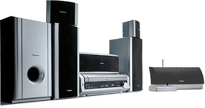 HTD-645DV High Power Home Entertainment System w/ Wireless surround Speakers