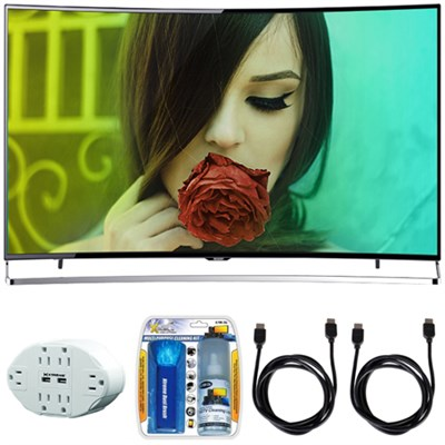 Aquos N9000 65` Class 4K Ultra HD Smart Curved LED HDTV w/ Hook up Kit