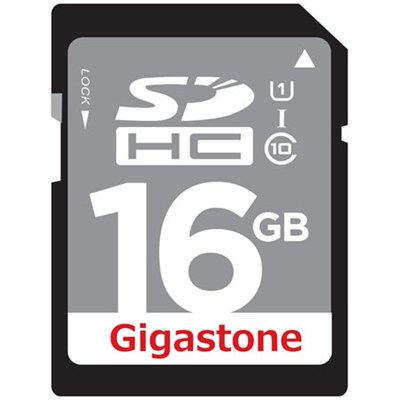 16GB Class 10 UHS-1 SDHC Memory Card Up to 45MB/s (GS-SDHCU116G-R)