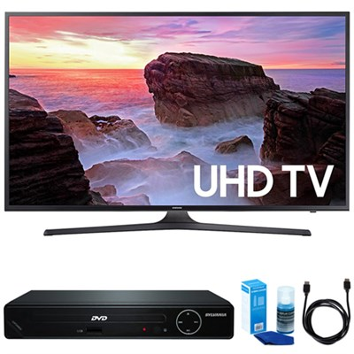 43-Inch 4K Ultra HD Smart LED TV (2017 Model) w/ HDMI DVD Player Bundle